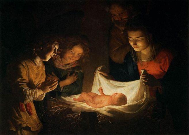 Adoration of the Christ, by Gerard van Honthorst
